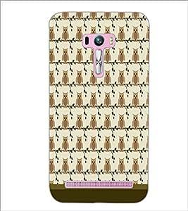 PrintDhaba Owl Pattern D-1649 Back Case Cover for ASUS ZENFONE SELFIE ZD551KL (Multi-Coloured)