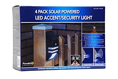 4 Pack Solar Powered LED Accent/Security Light
