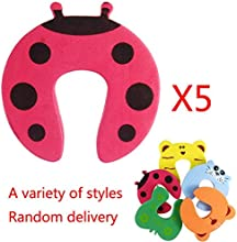 5Pcs Children Safety Finger Protector Pinch Cartoon Zoo Animal Pattern Foam Door Stopper Cushion -