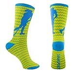 Buy Field Hockey Crew Socks (Zig Zag Green) by ChalkTalkSPORTS
