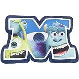 Character World Disney Monsters Inc University Shaped Plush Cushion, Multi-Color