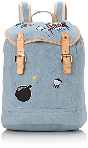 Paul & Joe Backpack, Borsa a zainetto donna Blu Blau (Light Jeans 366 366) 28x18x38 cm (B x H x T)