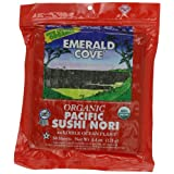 Emerald Cove Silver Grade Organic Pacific Sushi Nori (Dried Seaweed), 50-Count Sheets... by Emerald Cove