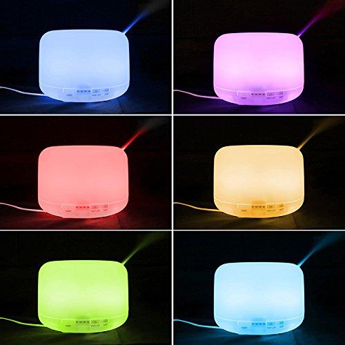 Aromaterapia-diffusore-ad-ultrasuoni-cool-nebbia-umidificatore-500ml-Olio-essenziale-diffusore-per-lufficio-camera-da-letto-Yoga-Baby-Room-Bagno-By-Cootree-con-opzionale-7-luci-cambianti-di-colore-LED