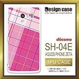 SH-04Eケース SH-04Eカバー SH-04E専用ケース TPUケース/AQUOS PHONE EX SH-04E /1090_チェックアシンメトリピンク(カワイイ_模様)