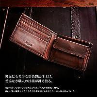 (ラファエロ) Raffaello 一流の革職人が作る 古代の王侯貴族が愛した貴重なカーフレザーをエイシェントロイヤル製法で染め上げたメンズ二つ折り財布 革財布 ブランド財布 メンズ財布 二つ折り財布(コルクヴィンテージ)