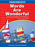 img - for Words Are Wonderful Book 2 (Grade 4) Teacher's Edition book / textbook / text book