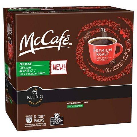 McCafe Premium Roast Decaf, K-cups, 18 ct (Keurig Mccafe Decaf compare prices)