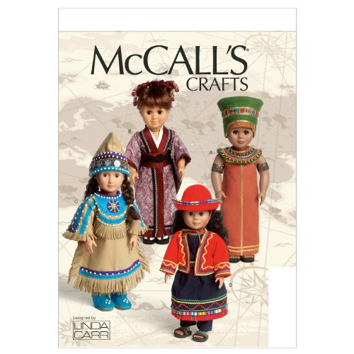 Read About McCall's Patterns M6670 Clothes for 18-Inch Doll and Accessories Sewing Template