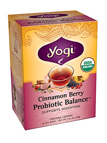 Yogi Probiotic Balance Tea, Cinnamon Berry, 16 Tea Bags (Pack of 6)