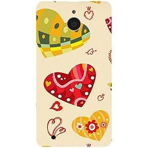 Casotec Hearts Design 3D Printed Hard Back Case Cover for Microsoft Lumia 850