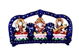 HD Techno Crafts Indian Rajasthani Ganesha Laxmi Saraswati Set Blue 9 inch