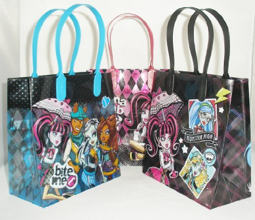 Monster High Party Favor Goodie Small Gift Bags 12