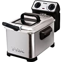 T-fal FR4049 Family Professional Electric Deep Fryer with Stainless Steel Waffle (Silver)