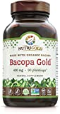 Bacopa Gold - 90 Plantcaps, Memory Enhancement Supplement with Organic Bacopa Monnieri Extract Powder
