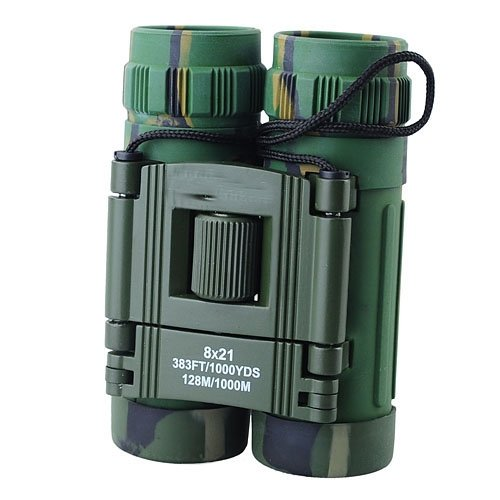 Siam Circus 8X21 383Ft/1000Yds 128M/1000M Binocular Focusing Telescope For Hunting Camping Watching-Camouflage Color