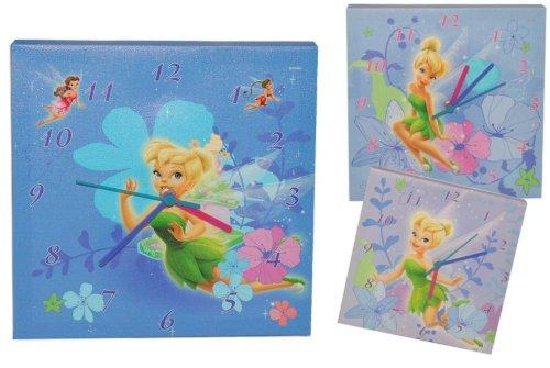 Wanduhr Tinkerbell rosa 25 * 25 cm Uhr Kinderzimmer tickt Kinderuhr Deko Fairies Fairy Fee Disney kaufen