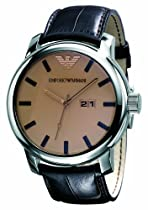Emporio Armani Brown Leather Mens Watch AR0429