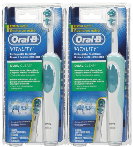 Oral-B Vitality Dual Clean Rechargeable Electric Toothbrush 1 Count