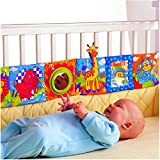 Vicky Store Infant Kid Baby Crib Gallery High-Contrast Development Puzzle Zoo Cloth Book Toy