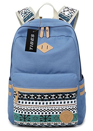 tibes-vintage-canvas-laptop-backpack-for-school-student-sky-blue