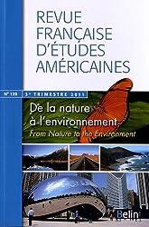 Revue française d'études américaines, N° 129, 3e trimestre : De la nature à l'environnement