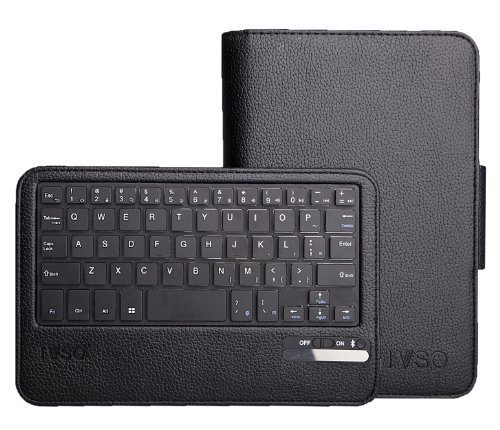 IVSO® Acer Iconia A1-810 7.9-Inch Bluetooth Keyboard Portfolio Case - DETACHABLE Bluetooth Keyboard Stand Case / Cover for Acer Iconia A1-810 Tablet (Black)