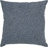 Rizzy Home T-4289 Decorative Pillows, 18 by 18-Inch, Dark Gray/Blue, Set of 2