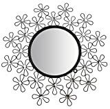 Lulu Decor, Daisy Decorative Metal Wall Mirror, Frame Diameter 25 , Perfect for Housewarming Gift (Mirror)