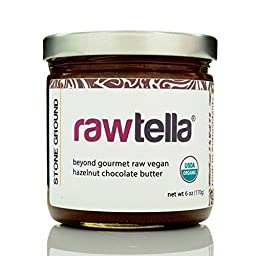 Rawtella - Gourmet Raw Chocolate Hazelnut Spread - ORIGINAL (01/6 oz Jar)