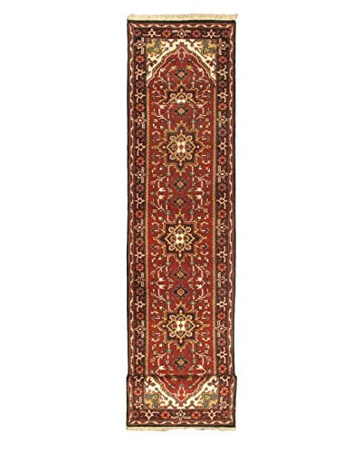Hand-Knotted Royal Heriz Wool Rug, Dark Copper, 2' 7 x 19' 3 Runner