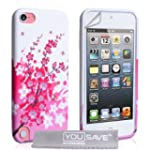 Coque iPod Touch 5G Rose / Blanc Sili...