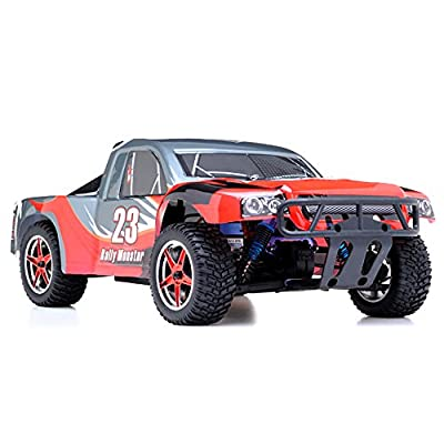 1/10th 2.4Ghz Brushless Exceed RC Rally Monster Electric RTR Racing Truck (AA Red)