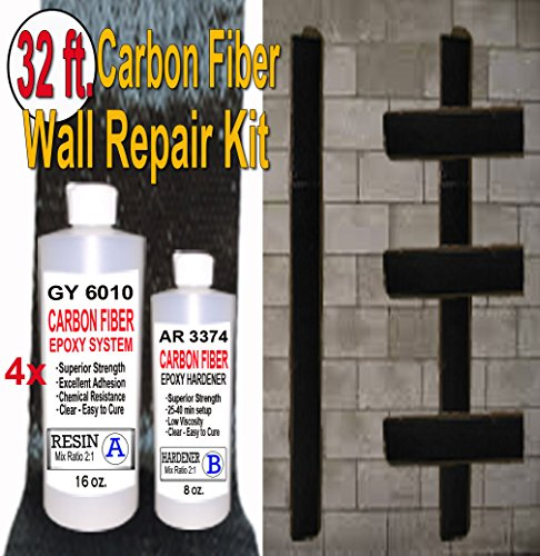 32 ft-Carbon Fiber-Basement Wall Crack Repair Kit (Carbon Fiber Repair compare prices)