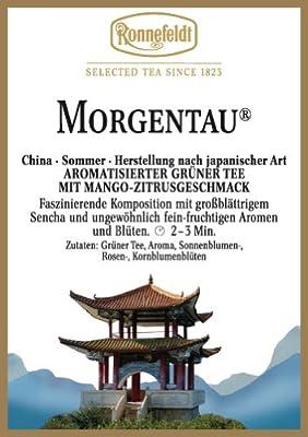 Morgentau Ronnefeldt, aromatisierter Grüntee mit Mango-Zitrusgeschmack, 100 g 4er Pack von Morgentau bei Gewürze Shop