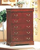 Coaster Louis Philippe Style Chest/Dresser ,Cherry Finish Wood