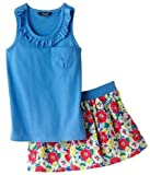 Blue Tank & Floral Scooter Set by Chaps Size 3 / 3T