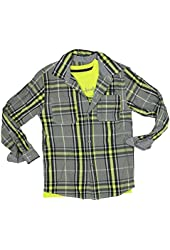 Kenneth Cole Reaction Boys 2-Piece Tee & Shirt Set Medium Bright Lime