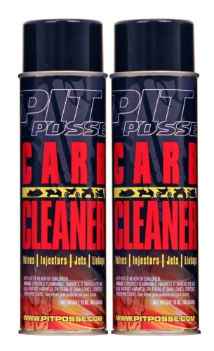 Pit Posse PP3234-2 2 15 Oz Cans Of Carb Carburetor Cleaner Motorcycle ATV Dirt Bike Made In USA (Motorcycle Carburetor Cleaner compare prices)