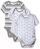 Twins Unisex Baby Kurzarm-Body im 3er Pack, Gr. 86, Grau (micro chip 144105)