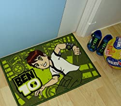 Athom Trendz Ben10 Polyester Door Mat - Medium Size, Green
