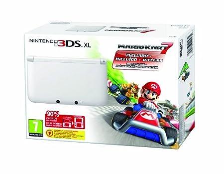 Nintendo 3DS XL  - Consola + Mario Kart 7 (preinstalado), color blanco
