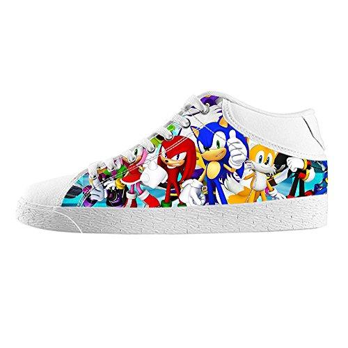 TH@MM Custom Cartoon Sonic The Hedgehog Canvas Sneaker Shoes for Women (Sonic The Hedgehog Sneakers)