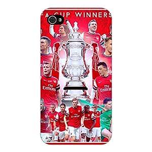 Jugaaduu Arsenal Back Cover Case For Apple iPhone 4
