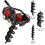 NEW TRUESHOPPING 52CC PETROL EARTH AUGER 2 STROKE 3HP WITH EXTRA DRILL BITS 10MM, 15MM, 20MM