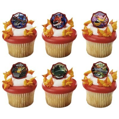 Planes 2 Fire and Rescue Piston Peak Rescue Team Cupcake Rings - 24 pcs - 1