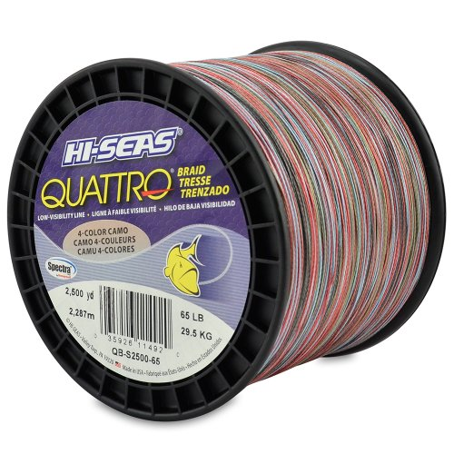 hi seas quattro braid fishing line 150 yards 20 pounds