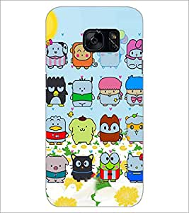 PrintDhaba Cartoon D-4876 Back Case Cover for SAMSUNG GALAXY S7 (Multi-Coloured)