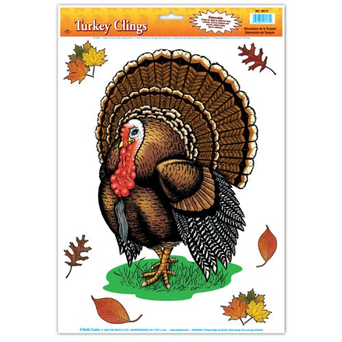 Turkey Cling (6 leaves included) Party Accessory  (1 count) (1/Sh) - 1