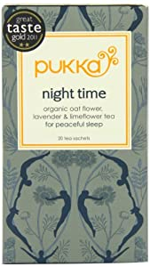 Pukka Organic Night Time 20 Teabags (Pack of 4, Total 80 Teabags)